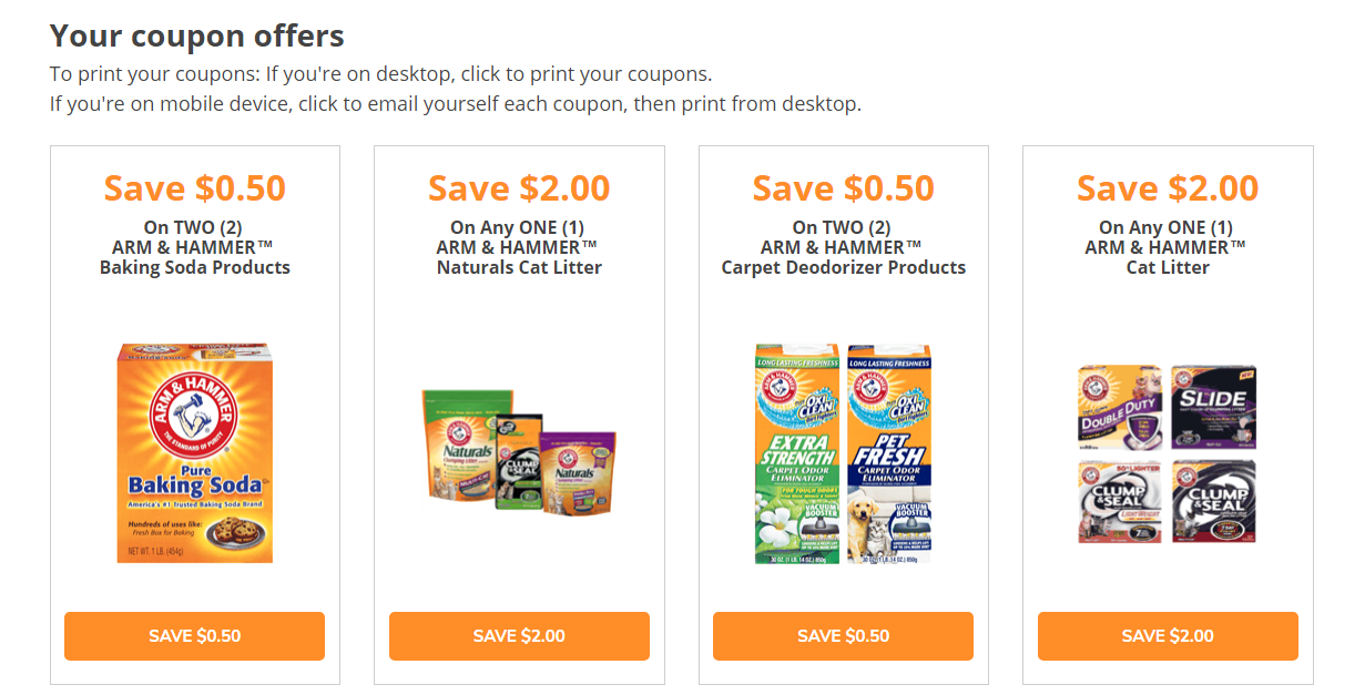 Arm & Hammer Coupons 02