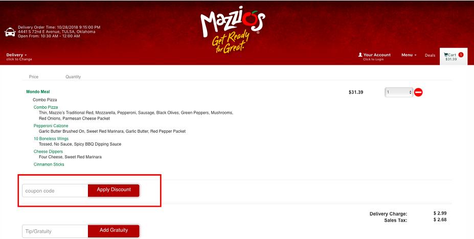 Mazzio's Italian Eatery Coupons